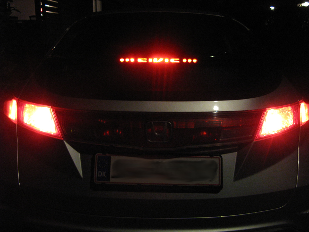 how to change brake light honda civic